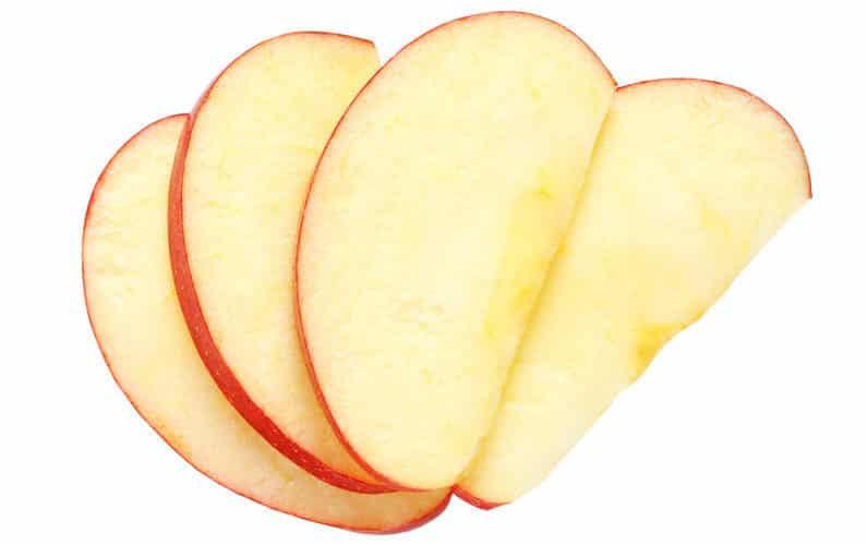 リンゴの変色を戻す、遅らせる方法