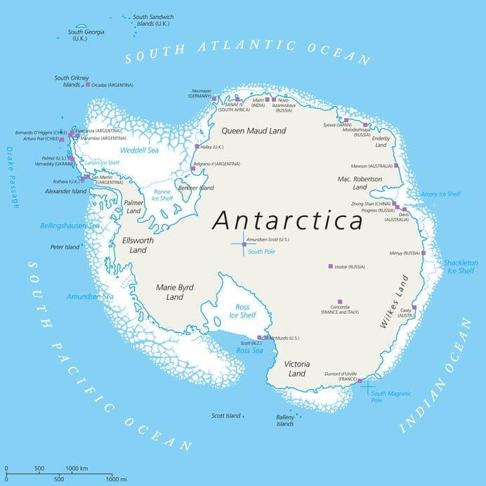 南極の中でも場所により気温がぜんぜん違うというトリビア