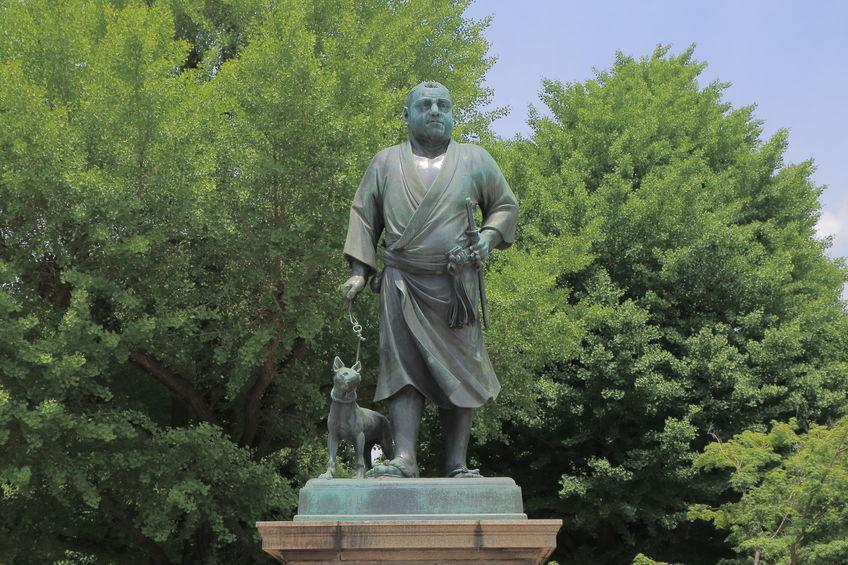 西郷隆盛の銅像の犬に関する雑学
