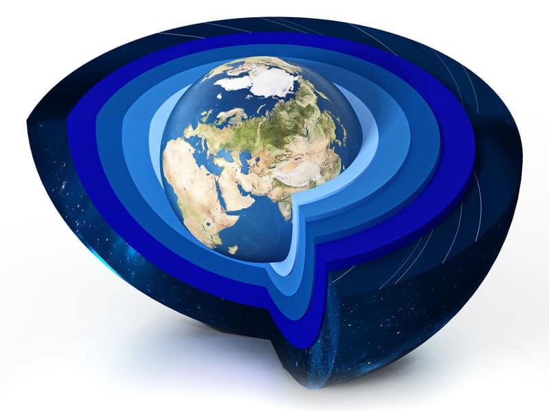 大気圏は5つの層に分かれているというトリビア