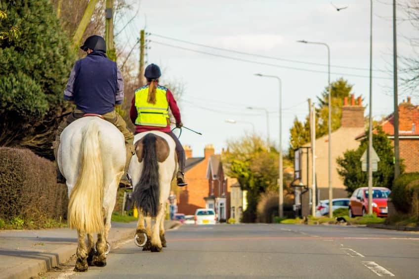 公道を馬で走ってもいいという雑学