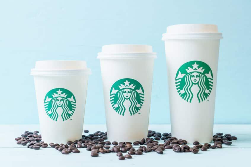 スタバのコーヒーのサイズの違いについてのトリビア