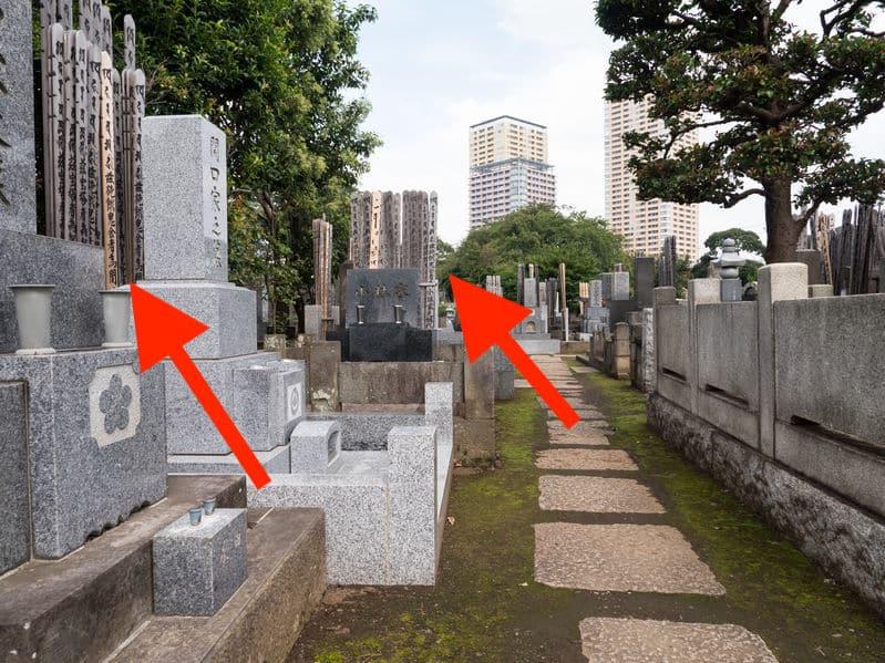 お墓の後ろに立ててある細長い木の板は何?という雑学