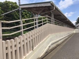 JR原宿駅にある宮廷ホームを撮影