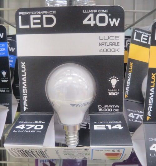 イタリアで売っている「自然な」照明