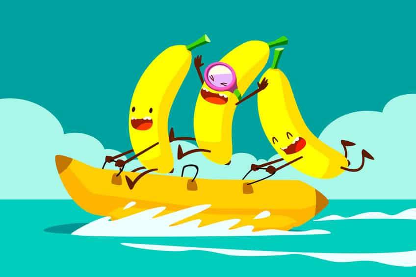 バナナはお湯に浸けると甘くなるという雑学