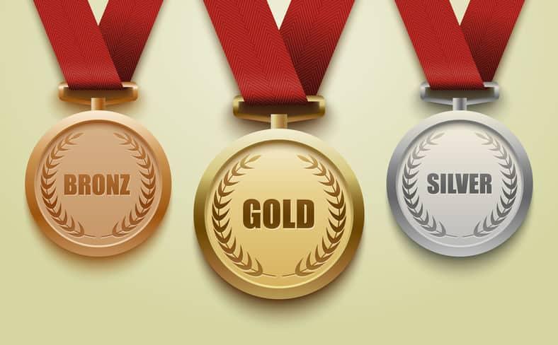 オリンピックの金メダルはほとんど銀でできているという雑学