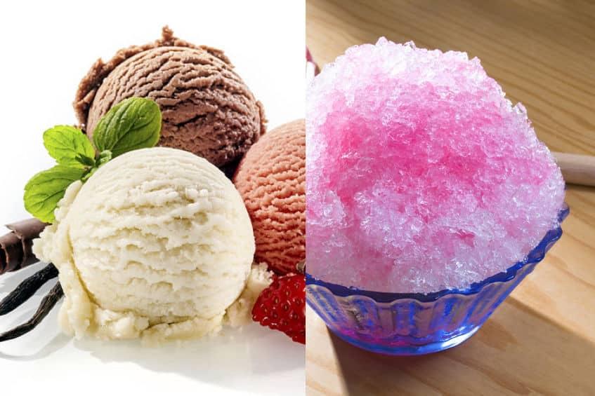 カキ氷よりもアイスクリームの方が冷たいという雑学