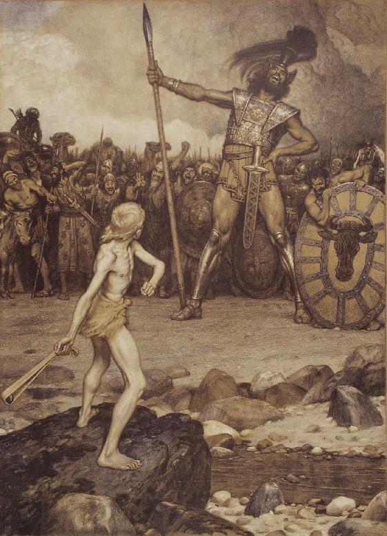 巨人ゴリアテを投石器で倒す羊飼いのエピソードが元になっているというトリビア