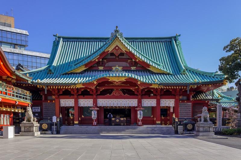 神社を移設して鬼門を封じた神田神社(神田明神)