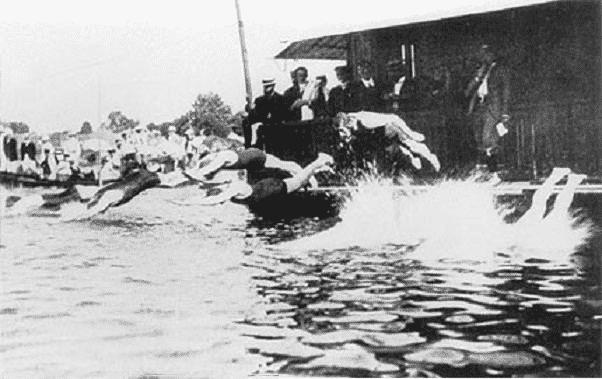 オリンピック第3回大会まで海・川・池で競泳を行った。というトリビア