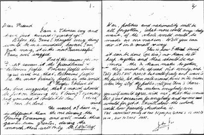 メルボルン大会から30年後に、手紙の差出人が判明する。というトリビア