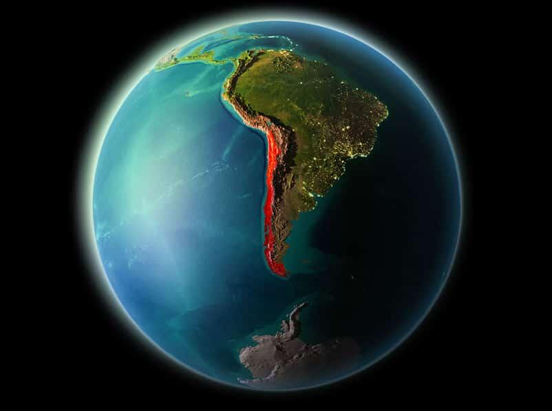 チリは北から南までの距離が約4,600kmもあるというトリビア