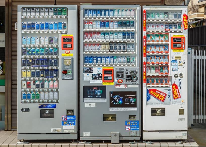 日本で初めて作られた自動販売機は、たばこを販売する自動販売機についてのトリビア