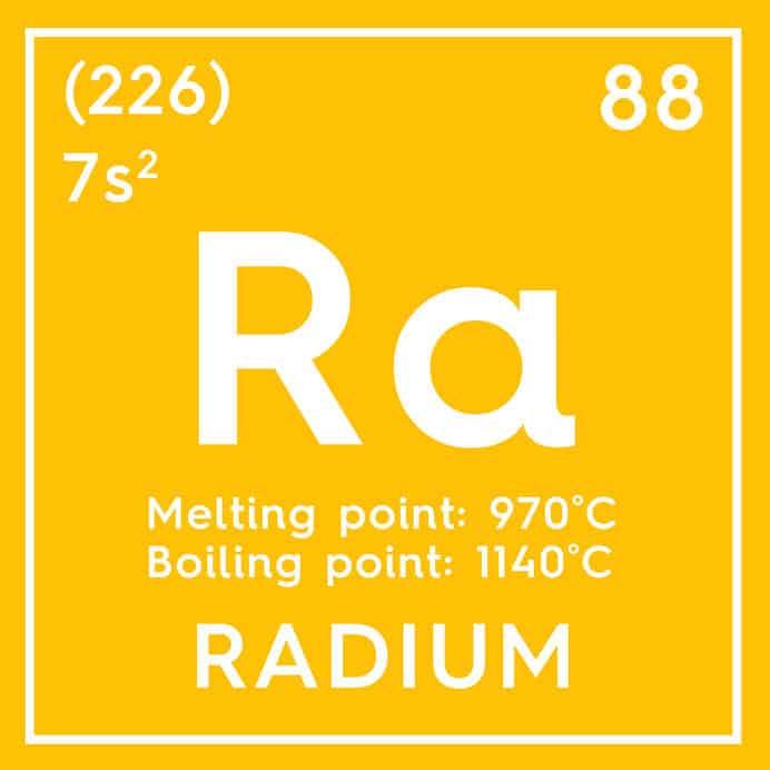 ラジウム226の放射能は1,600年で半減するというトリビア