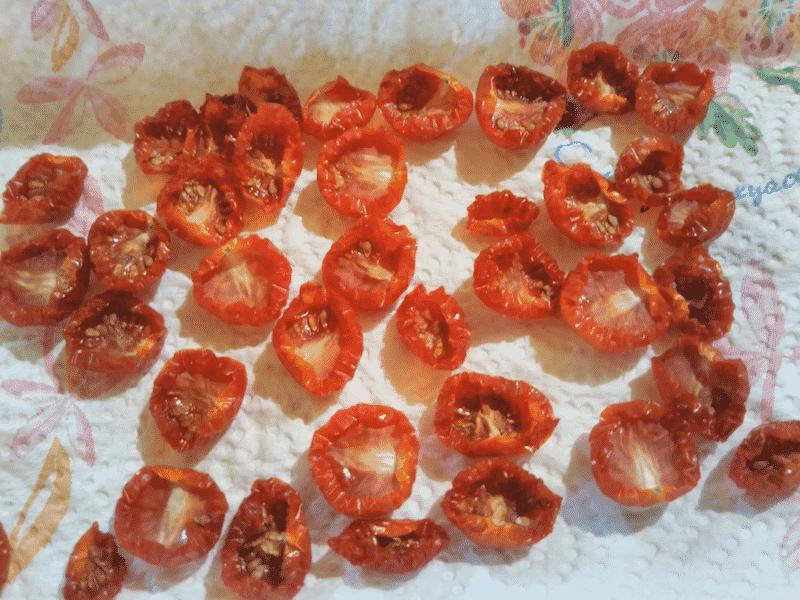干しトマト作り3日目の様子