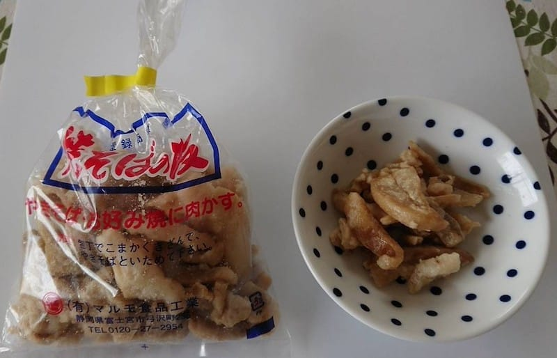 富士宮やきそばに使う肉かす
