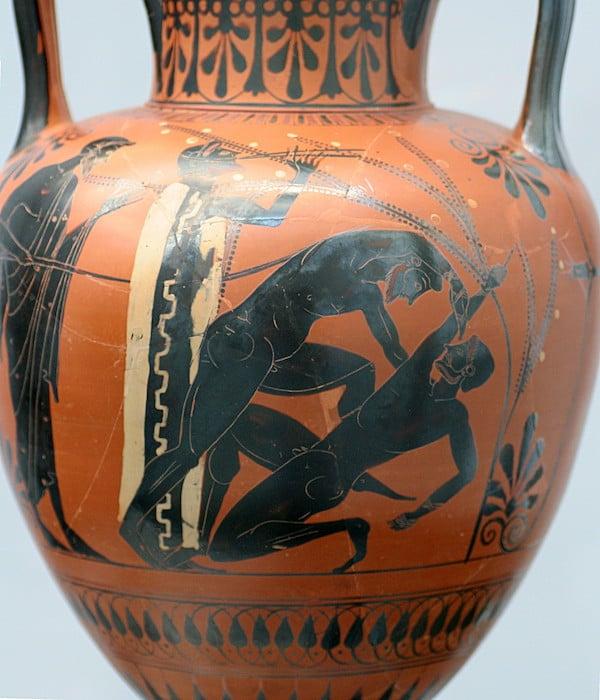 古代オリンピックでのパンクラチオン