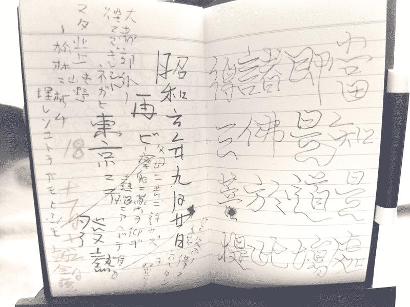 「雨ニモマケズ手帳」の「再ビ東京ニテ発熱」の部分