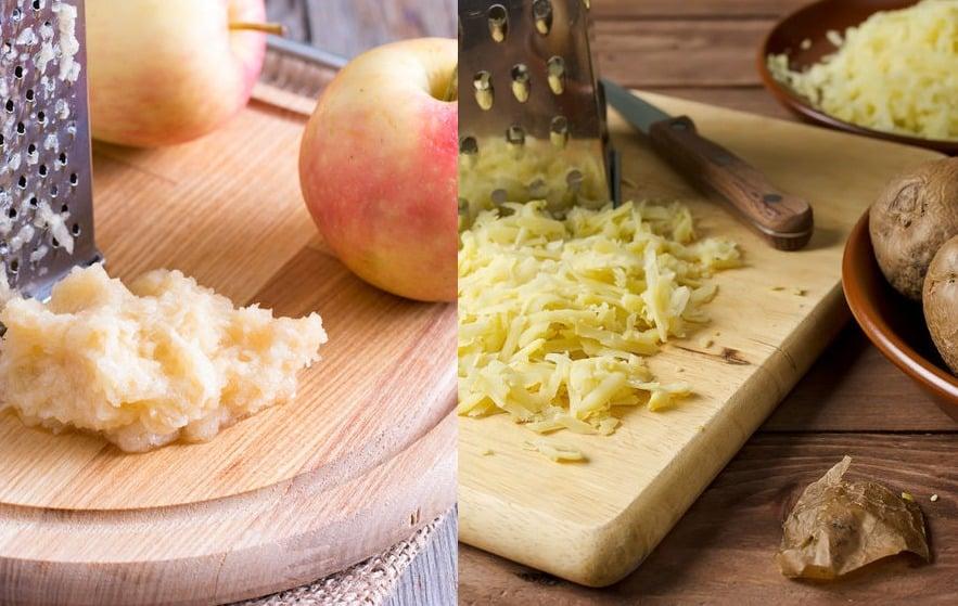 すりおろした「りんご」や「じゃがいも」の汁を塗るとやけどの応急処置ができるというトリビア