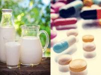牛乳と一緒に薬を飲むと副作用を引き起こしやすくなるという雑学
