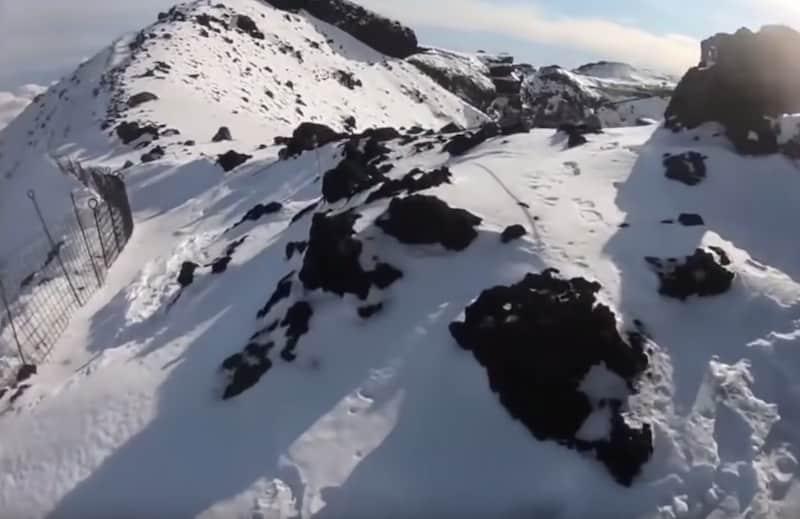 """""""富士山へGO""""の滑落事故。道がなくなってくる"""