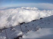 """""""富士山へGO""""の滑落事故。斜面の様子"""