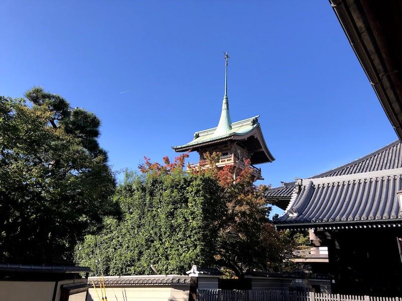 銅閣寺の様子