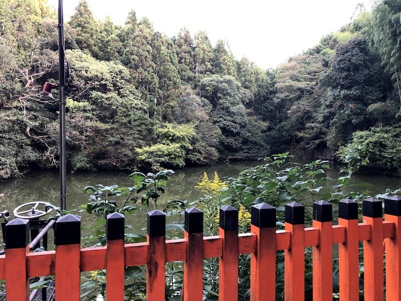 伏見稲荷大社の千本鳥居の湖