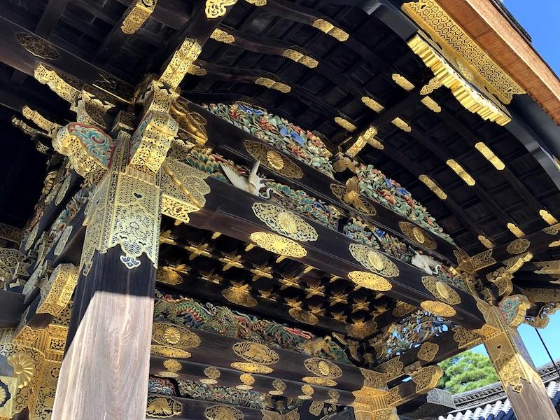 二条城の二の丸御殿入り口をアップで撮影