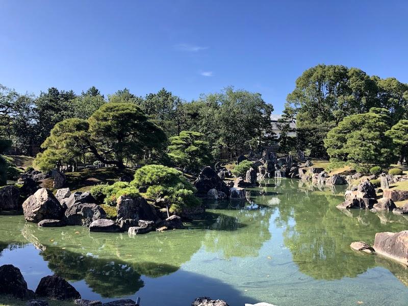 二条城の二の丸御殿の周りの日本庭園