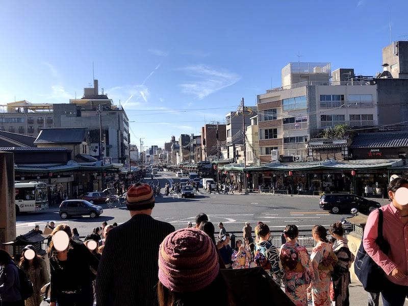 八坂神社の西門からの景色