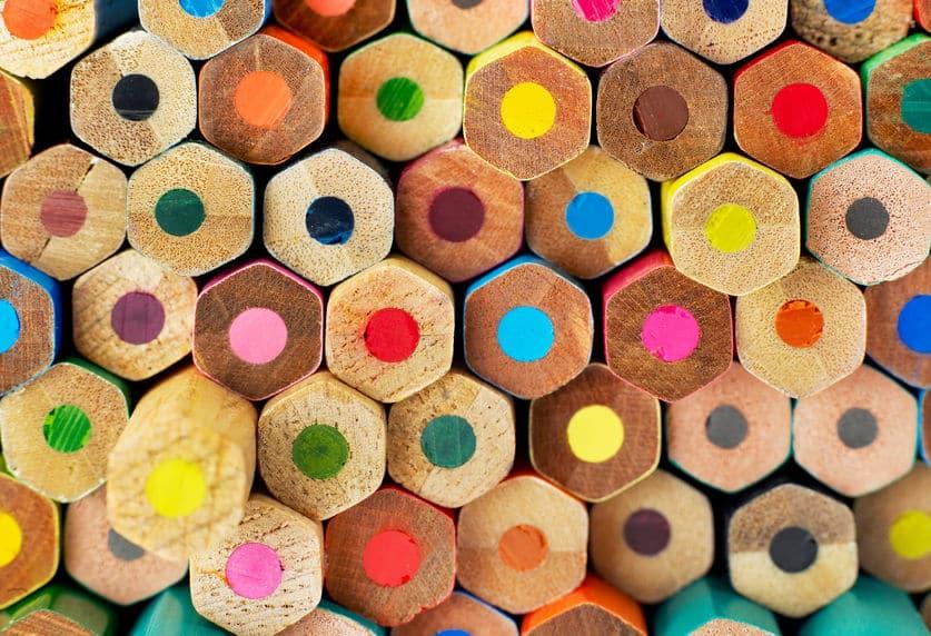 六角形の色鉛筆もあるというトリビア