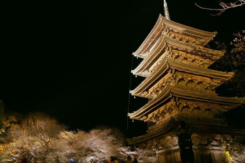 東寺の五重塔の高さは約55メートルもある!というトリビア