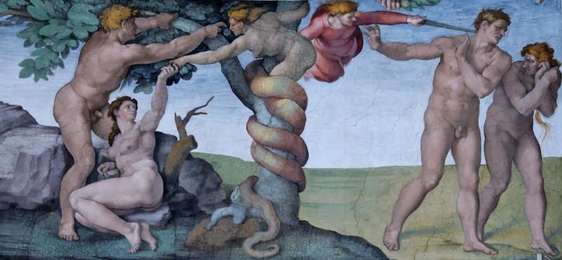 ミケランジェロが描いたアダムとイブ