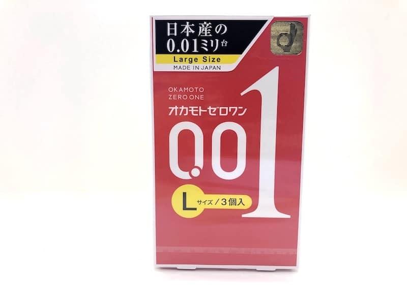 「オカモトゼロワン 0.01ミリ Lサイズ」のコンドームレビュー
