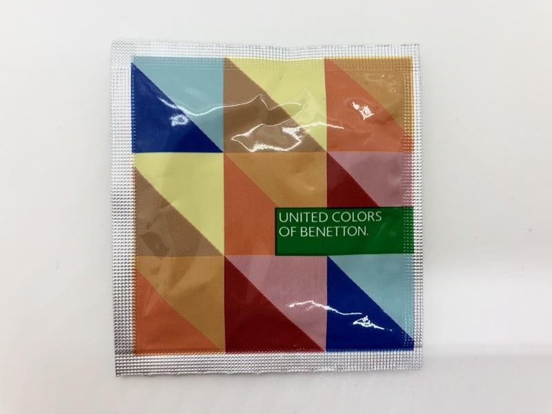 「ベネトン1000」のコンドーム袋(表)