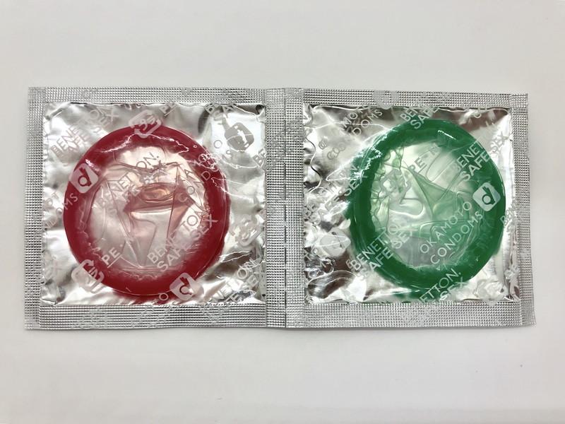 「ベネトン500」のコンドーム袋(裏)