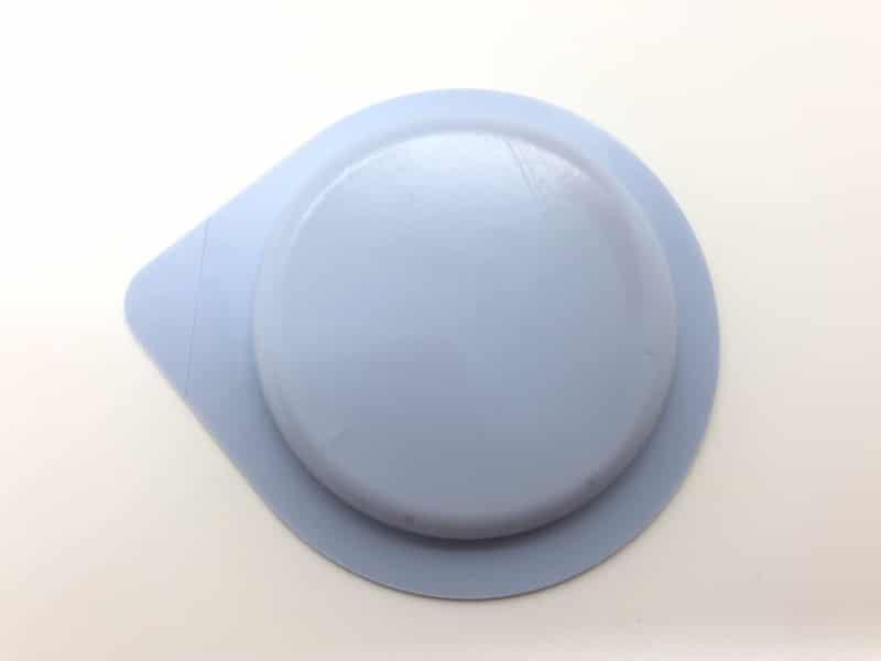 「サガミオリジナル002 クイック」のコンドーム袋(裏)