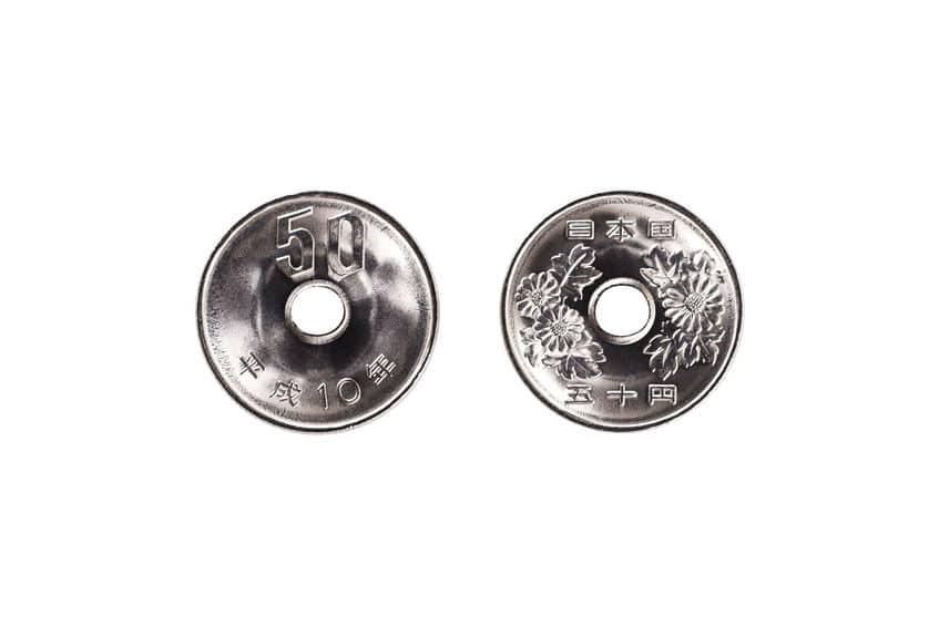五十円玉のデザインに関する雑学