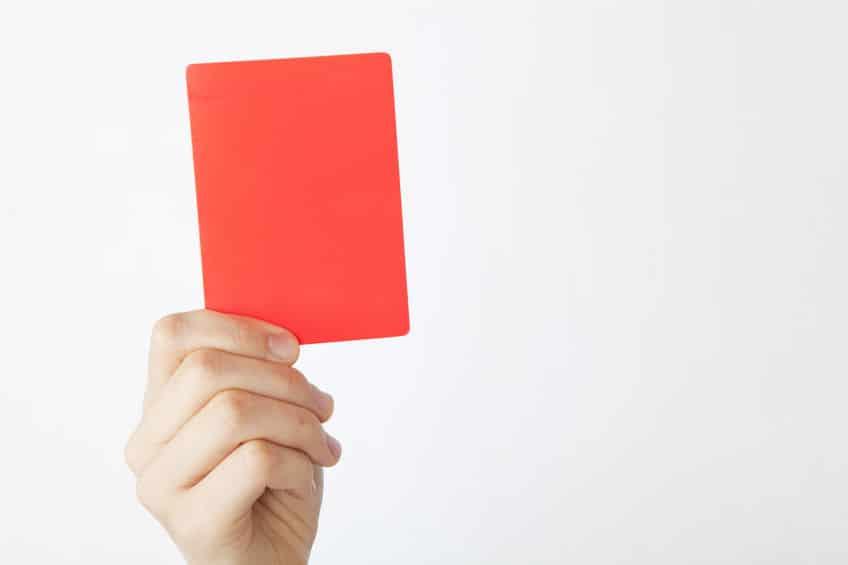 レッドカードが37枚も出された試合があるという雑学