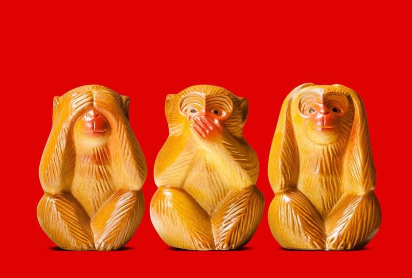 ガンディーは「見ざる言わざる聞かざる」の三猿の像を持ち歩いていたという雑学